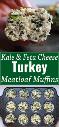 Kale and feta cheese meatloaf muffins are a quick and easy dinner recipe.Creamy feta cheese, yummy kale, and lots of dill in the perfect single serve size.