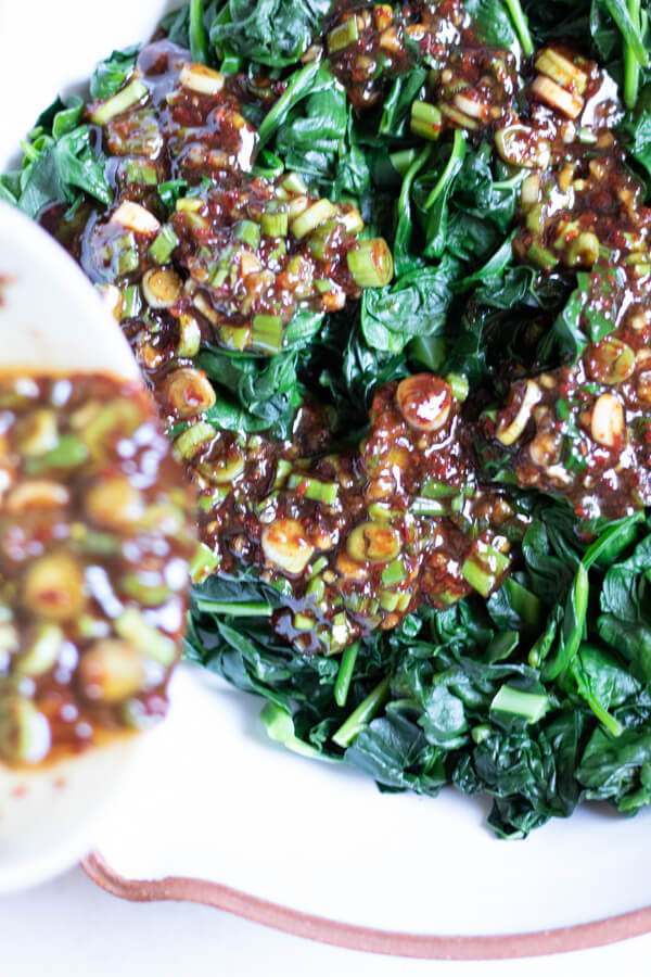 Korean Seasoned Kale and Spinach