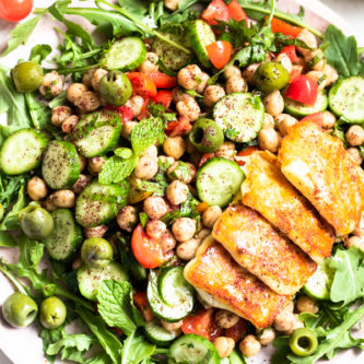 Easy Mediterranean Chickpea Salad