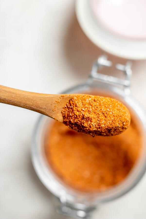Nashville Style Hot Chicken spice mix close up