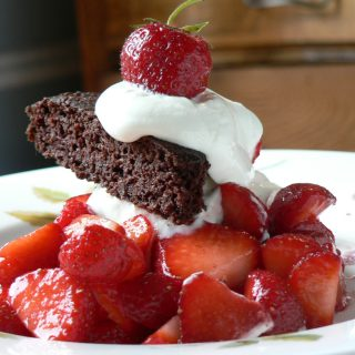 Gluten Free Chocolate Strawberry Shortcake