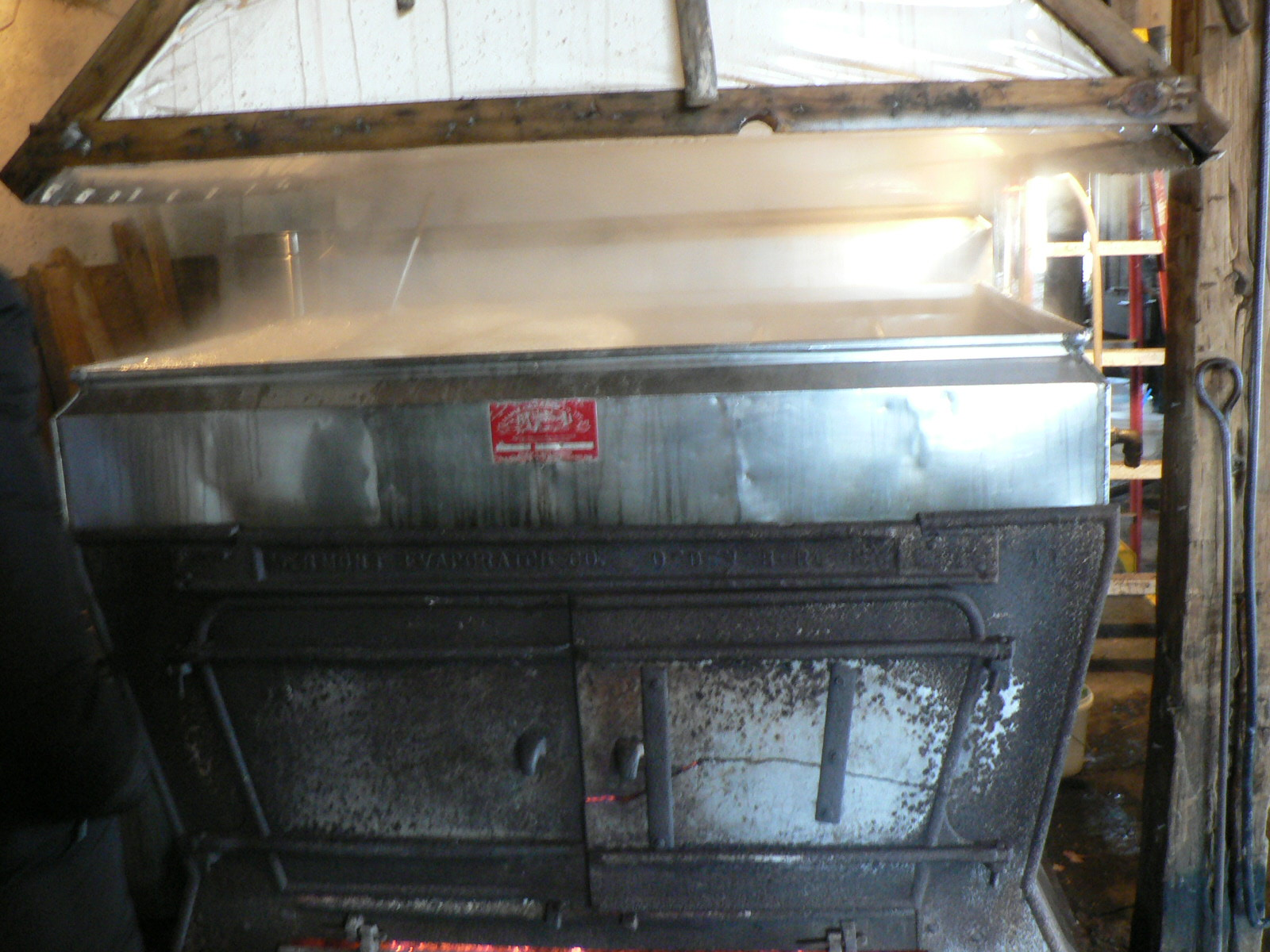 Maple Syrup Boiling