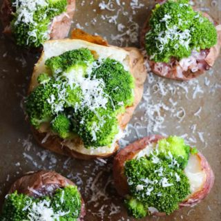 Parmesan Broccoli Loaded Baked Potato