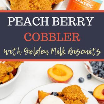 Gluten Free Peach Berry Cobbler