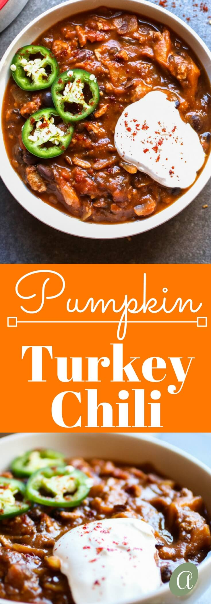 This pumpkin turkey chili recipe is sweet and spicy, the perfect combination of pumpkin, ground turkey, warming spices, and lots of black beans. Healthy comfort food!