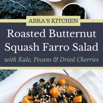 Butternut Squash and Kale Farro Salad