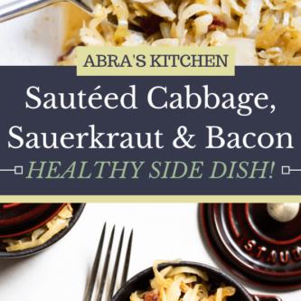 Sauteed Cabbage, Sauerkraut, and Bacon