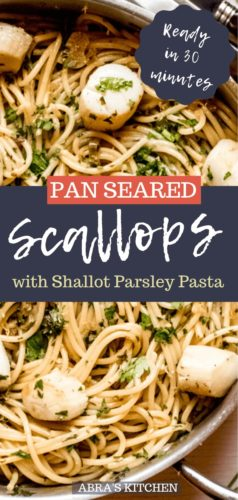 Pan Seared Scallops with Parsley Shallot Pasta-6