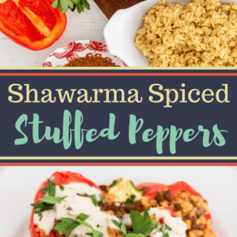 Shawarma Spiced Stuffed Peppers