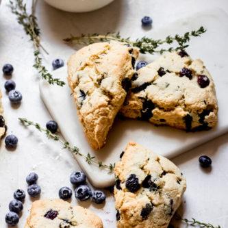 Sour Cream Blueberry Scones Gluten Free