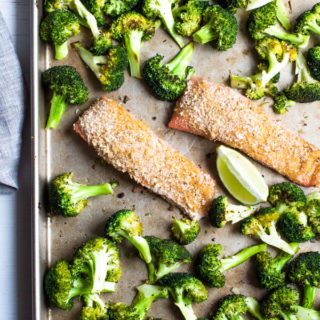 Spicy Crunchy Salmon Sheet Pan Dinner