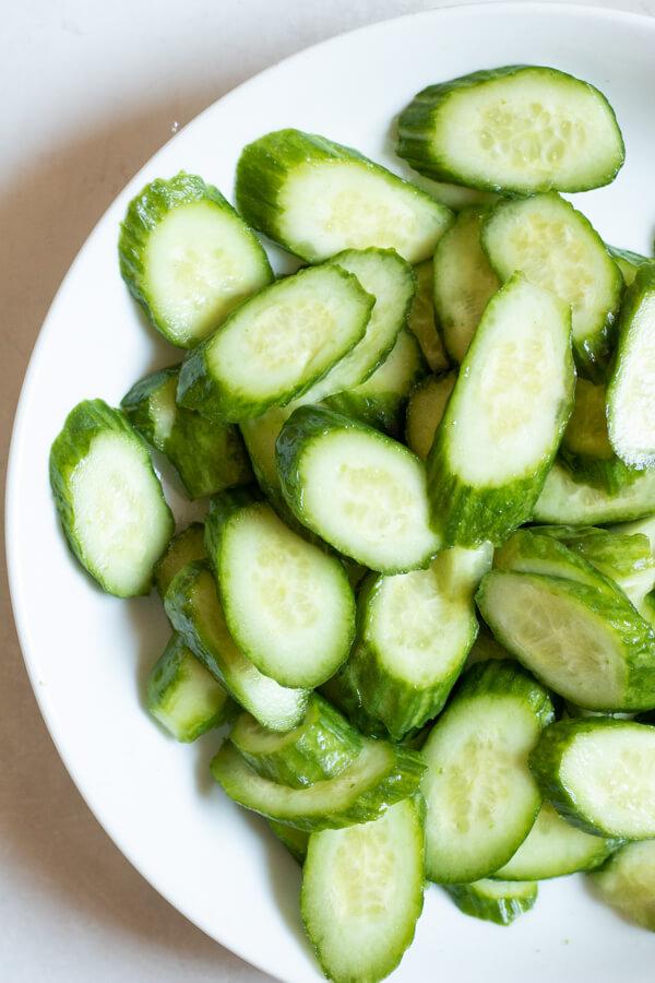 Spicy Korean Cucumber Salad - Cucumbers