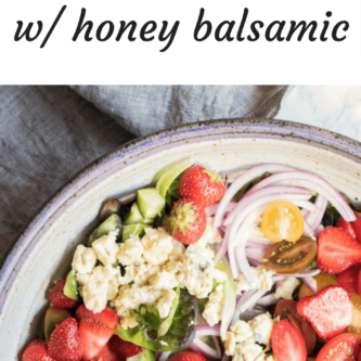 Light and refreshing Strawberry Avocado Salad. Sweet strawberries, creamy avocado, and addictive blue cheese come together to create the worlds most perfect summer salad.