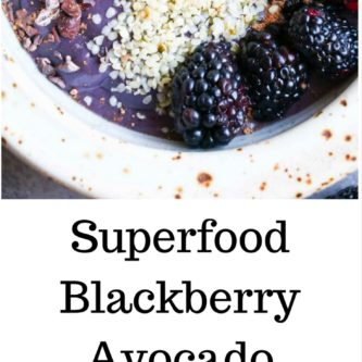 Superfood blackberry avocado smoothie bowl, you eat it with a spoon and then walk through the pearly gates of breakfast heaven. Vegan, Paleo, Whole30, Healthy smoothie |abraskitchen.com