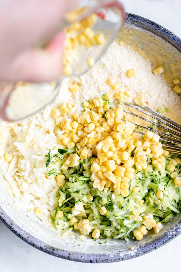 Vegetarian Sweet Corn and Zucchini Pie