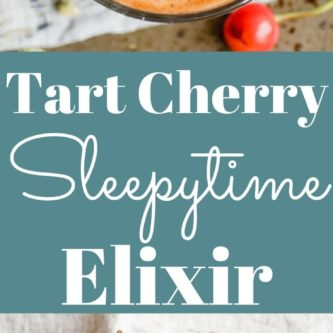 Tart Cherry Sleepytime Elixir. A warm nighttime beverage with chamomile, lavender, and tart cherry to encourage deep restful sleep.