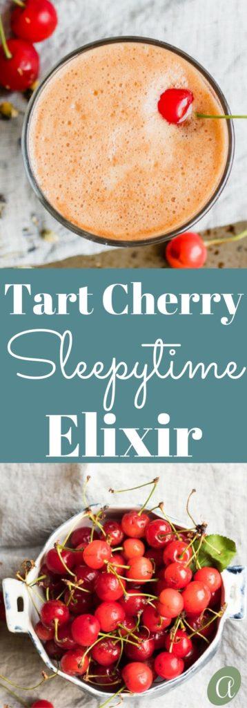 Tart Cherry Sleepytime Elixir. A warm nighttime beverage with chamomile, lavender, and tart cherry to encourage deep restful sleep.
