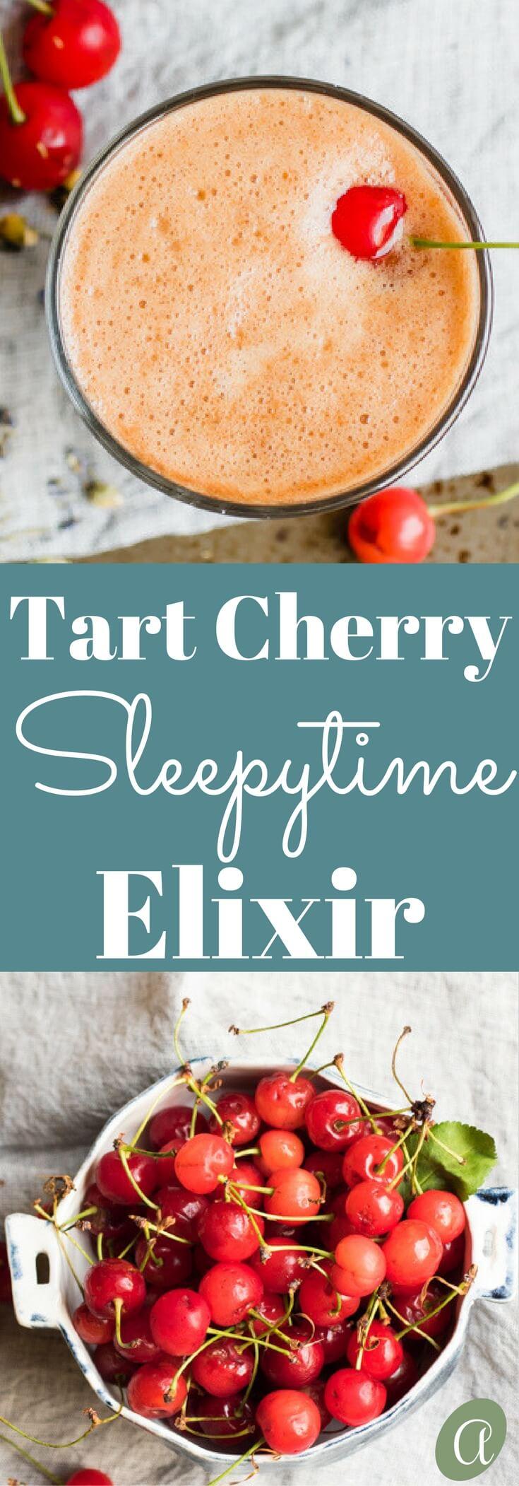 A warm sleepytime elixir with chamomile, lavender, and tart cherry to encourage deep restful sleep.