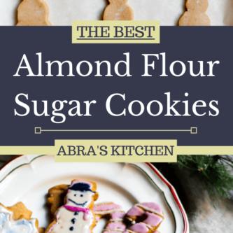 The BEST Almond Flour Sugar Cookies