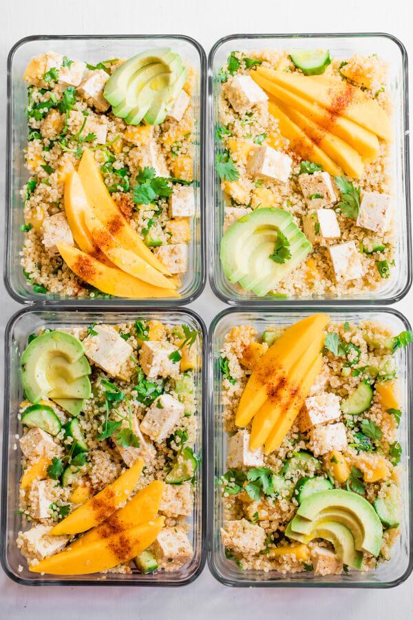 Meal Prep - Chili-Lime Mango Quinoa Salad with Tofu | Abra's
