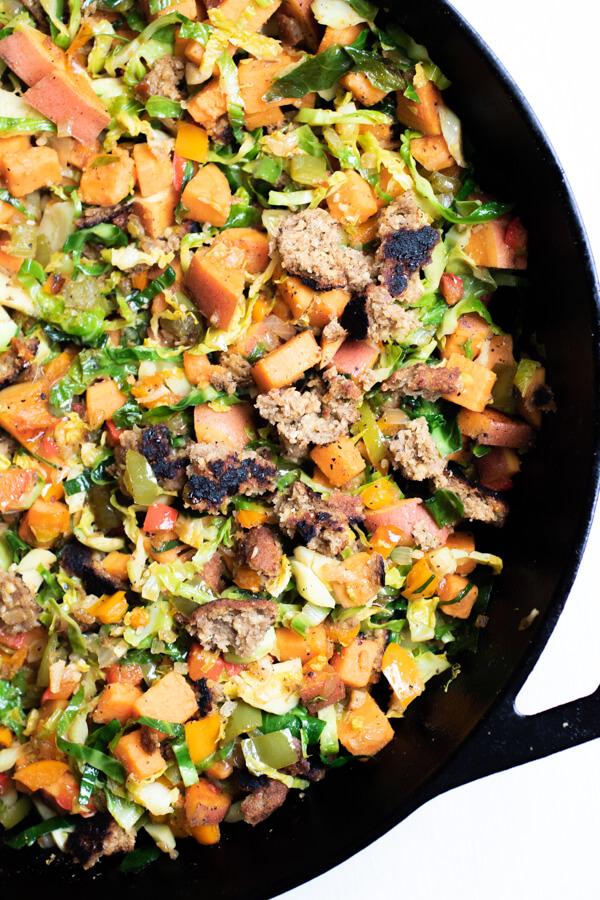 Veggie Sausage Sweet Potato Hash