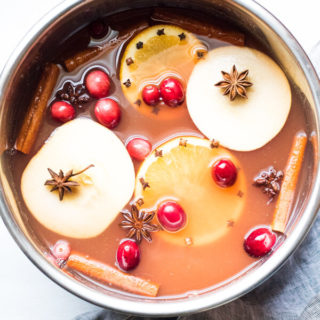 Curl up with a warm mug of this perfectly sweet and spicy mulled cranberry apple cider. One sip and you will see why this should be the official beverage of the season.