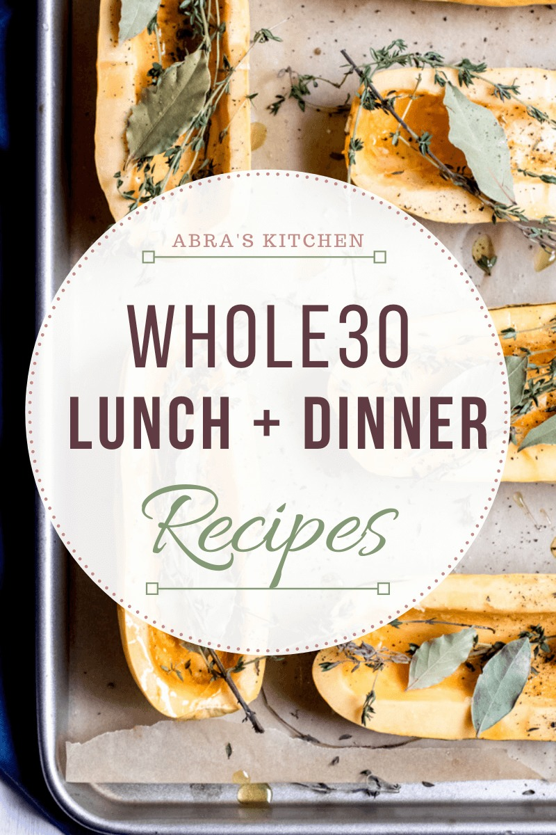 A wholesome, delicious, Whole30 meal plan! Perfect for your next Whole30 adventure! Healthy supportive recipes for breakfast, lunch, dinner, and snacks, curated by a nutritionist.