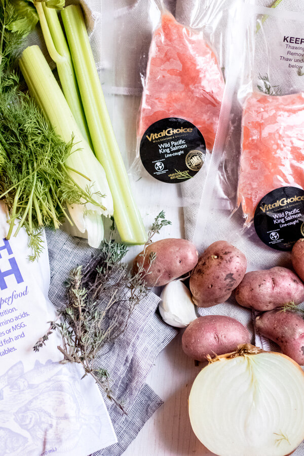 Wild Salmon Chowder Ingredients