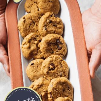 almond flour pumpkin chocolate chip cookies