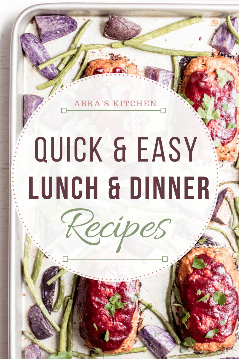 quick and healthy lunch and dinner recipes for a 30 minute healthy meal plan